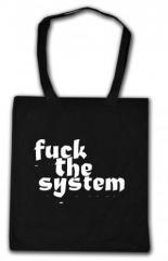 """Zur Baumwoll-Tragetasche """"Fuck the System"""" für 3,90 € gehen."""