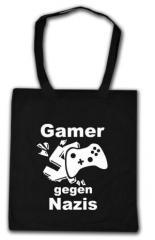 """Zur Baumwoll-Tragetasche """"Gamer gegen Nazis"""" für 4,00 € gehen."""