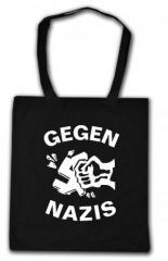 """Zur Baumwoll-Tragetasche """"Gegen Nazis"""" für 3,90 € gehen."""