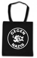 """Zur Baumwoll-Tragetasche """"Gegen Nazis (rund)"""" für 3,90 € gehen."""