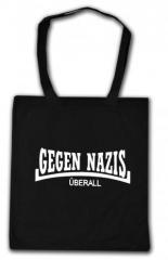 """Zur Baumwoll-Tragetasche """"Gegen Nazis Überall"""" für 4,00 € gehen."""