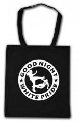 """Zur Baumwoll-Tragetasche """"Good night white pride (dicker Rand)"""" für 4,00 € gehen."""