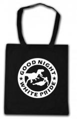"""Zur Baumwoll-Tragetasche """"Good night white pride - Dinosaurier"""" für 4,00 € gehen."""