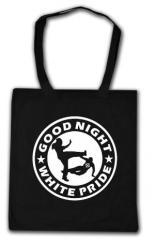 """Zur Baumwoll-Tragetasche """"Good night white pride (dünner Rand)"""" für 4,00 € gehen."""
