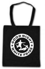 """Zur Baumwoll-Tragetasche """"Good night white pride - Fußball"""" für 4,00 € gehen."""