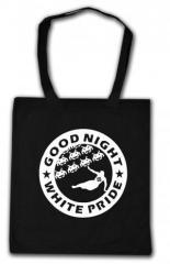 """Zur Baumwoll-Tragetasche """"Good night white pride - Space Invaders"""" für 4,00 € gehen."""