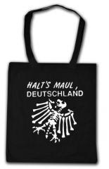 """Zur Baumwoll-Tragetasche """"Halt's Maul Deutschland (weiß)"""" für 4,00 € gehen."""