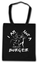 """Zur Baumwoll-Tragetasche """"I am not a burger"""" für 3,90 € gehen."""