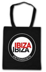 """Zur Baumwoll-Tragetasche """"Ibiza Ibiza Antifascista (Schrift)"""" für 4,00 € gehen."""