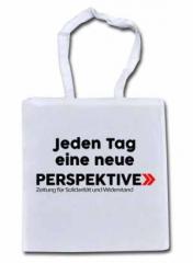 """Zur Baumwoll-Tragetasche """"Jeden Tag eine neue Perspektive"""" für 6,00 € gehen."""