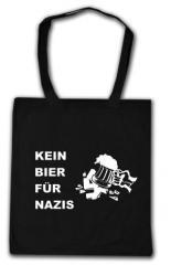 """Zur Baumwoll-Tragetasche """"Kein Bier für Nazis"""" für 4,00 € gehen."""