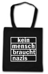 """Zur Baumwoll-Tragetasche """"kein mensch braucht nazis"""" für 4,00 € gehen."""