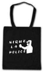 """Zur Baumwoll-Tragetasche """"Nique la Police"""" für 4,00 € gehen."""