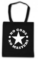 """Zur Baumwoll-Tragetasche """"No Gods No Masters"""" für 3,90 € gehen."""