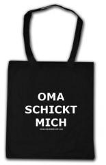 """Zur Baumwoll-Tragetasche """"Oma schickt mich"""" für 3,90 € gehen."""