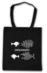 """Zur Baumwoll-Tragetasche """"Organize! Fische"""" für 4,00 € gehen."""