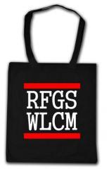 """Zur Baumwoll-Tragetasche """"RFGS WLCM"""" für 4,00 € gehen."""