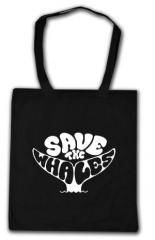 """Zur Baumwoll-Tragetasche """"Save the Whales"""" für 4,00 € gehen."""