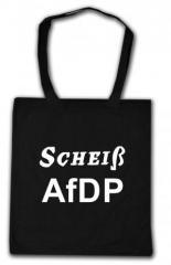 """Zur Baumwoll-Tragetasche """"Scheiß AfDP"""" für 3,90 € gehen."""