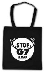 """Zur Baumwoll-Tragetasche """"Stop G7 Elmau"""" für 3,90 € gehen."""