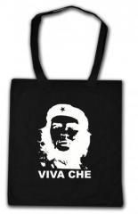 """Zur Baumwoll-Tragetasche """"Viva Che Guevara (weiß/schwarz)"""" für 3,90 € gehen."""