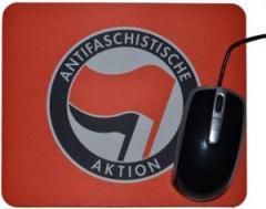 """Zum Mousepad """"Antifaschistische Aktion (rot/schwarz)"""" für 7,00 € gehen."""