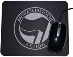 """Zum Mousepad """"Antifaschistische Aktion (schwarz/schwarz)"""" für 6,82 € gehen."""