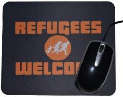 "Zum Mousepad ""Refugees welcome (Quer)"" für 7,00 € gehen."