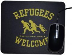 """Zum Mousepad """"Refugees welcome"""" für 7,00 € gehen."""