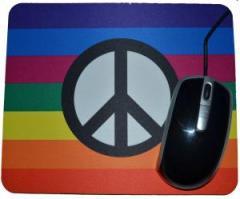 """Zum Mousepad """"Regenbogen (mit Peacezeichen)"""" für 7,00 € gehen."""