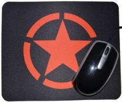 """Zum Mousepad """"Roter Stern im Kreis (Red Star)"""" für 7,00 € gehen."""
