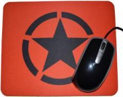 """Zum Mousepad """"Schwarzer Stern im Kreis (Black Star)"""" für 6,82 € gehen."""