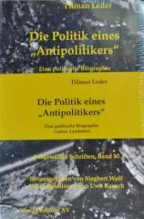 """Zum Buch """"Die Politik eines Antipolitikers"""" von Tilman Leder für 49,90 € gehen."""