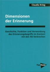 """Zum Buch """"Dimensionen der Erinnerung"""" von Claudia Krieg für 14,00 € gehen."""