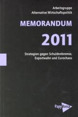"""Zum Buch """"Memorandum 2011"""" von AG Alternative Wirtschaftspolitik für 17,90 € gehen."""