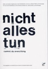 """Zum Buch """"nicht alles tun"""" von Jens Kastner und Bettina Spörr (Hg.) für 16,00 € gehen."""