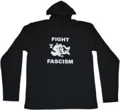 """Zum Kapuzen-Longsleeve """"Fight Fascism"""" für 18,00 € gehen."""