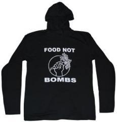 """Zum Kapuzen-Longsleeve """"Food not Bombs"""" für 18,00 € gehen."""
