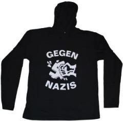 "Zum Kapuzen-Longsleeve ""Gegen Nazis"" für 18,00 € gehen."