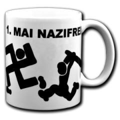 """Zur Tasse """"1. Mai Nazifrei"""" für 9,75 € gehen."""