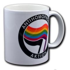 """Zur Tasse """"Antihomophobe Aktion"""" für 10,00 € gehen."""