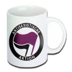 """Zur Tasse """"Antisexistische Aktion"""" für 10,00 € gehen."""