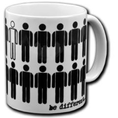 """Zur Tasse """"Be different"""" für 10,00 € gehen."""