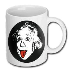 """Zur Tasse """"Einstein"""" für 10,00 € gehen."""