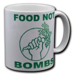 """Zur Tasse """"Food Not Bombs"""" für 10,00 € gehen."""