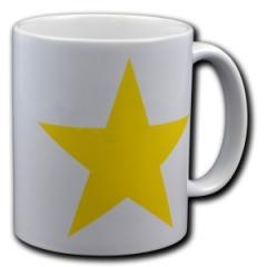 """Zur Tasse """"Gelber Stern"""" für 10,00 € gehen."""