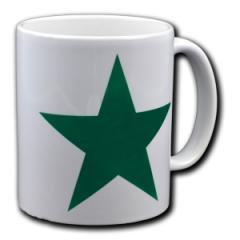 """Zur Tasse """"Grüner Stern"""" für 10,00 € gehen."""
