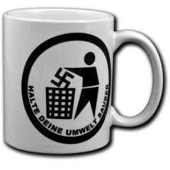 """Zur Tasse """"Halte Deine Umwelt sauber"""" für 10,00 € gehen."""