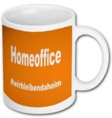 """Zur Tasse """"Homeoffice #wirbleibendaheim"""" für 9,75 € gehen."""