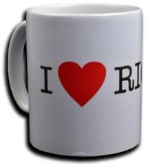 """Zur Tasse """"I love Riots"""" für 10,00 € gehen."""